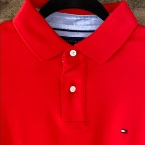 Tommy Hilfiger Red Polo Large